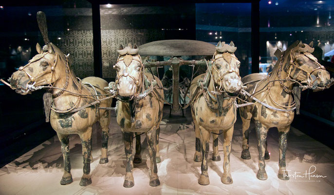 Bronze-Quadriga, der sogenannte Hohe Wagen