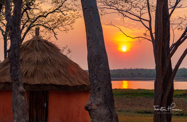 Traumhafter Sonnenuntergang über dem Kasanka Nationalpark