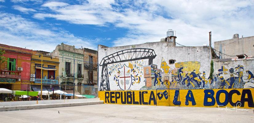 La Boca ist ein Stadtteil im Osten der argentinischen Hauptstadt Buenos Aires und das bekannteste der 48 Viertel der Stadt.
