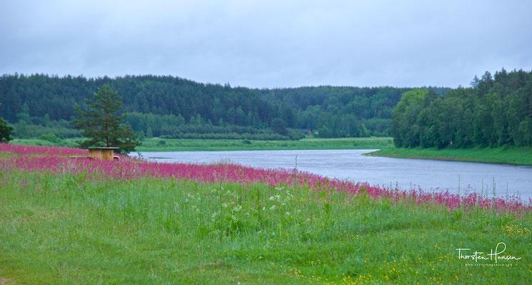 Lettische Landschaft an der Düna