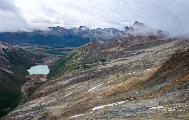 Laguna Esmeralda in den Bergen von Ushuaia