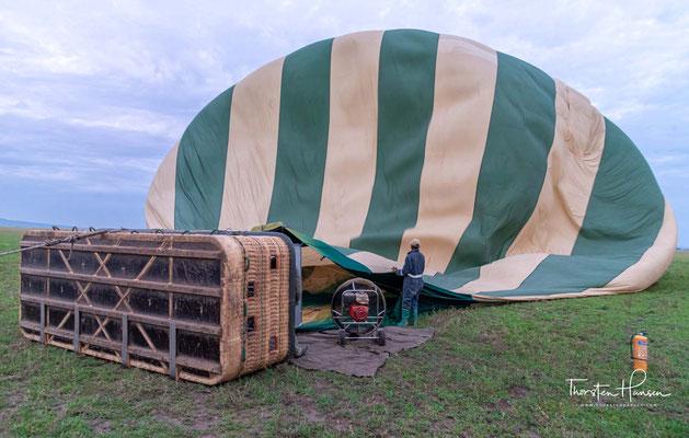 Das Ballon Safari Abenteuer beginnt sehr früh am Morgen noch bevor die Sonne aufgeht.