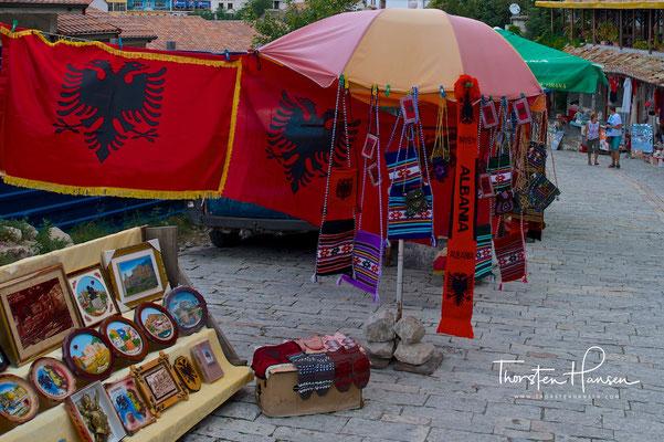 Traditionelle Basarstraße in Kruja