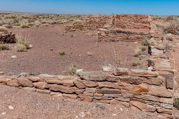 Genaue Kenntnisse darüber gibt es derzeit nicht, sicher ist jedoch, dass es mehrere Siedlungsphasen gegeben hat. Diese reicht von frühen Nomadenstämmen bis zur Pueblo-Kultur um 1100 bis 1400.