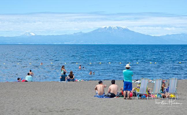 Frutillar liegt am Westufer des Lago Llanquihue, mit rund 860 km² der zweitgrößte See Chiles.