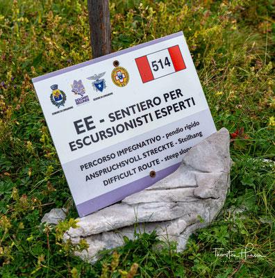 Über 820 Höhenmeter muss man zum Rifugio Pian de Fontana steil hinabsteigen