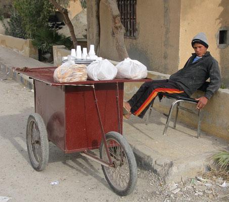 Kaffeestand in Raqqa