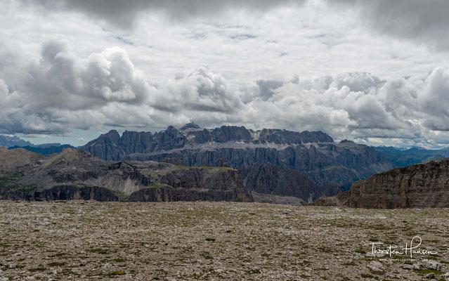 Der Sella Stock mit dem 3152m hohen Piz Boe