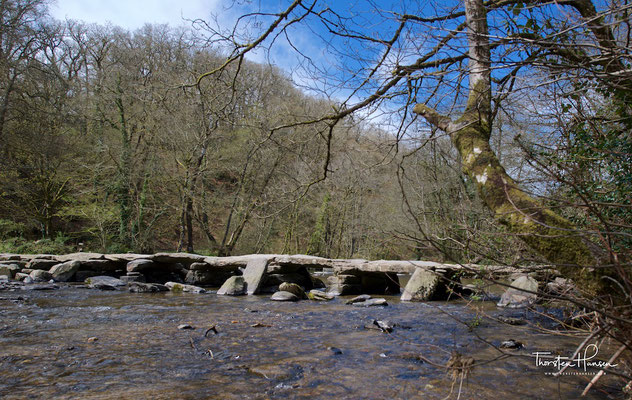 Tarr Steps liegt im Exmoor-Nationalpark