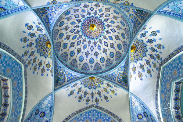 Das Innere der Kuppel wurde restauriert, um das ursprüngliche Dekor zu zeigen.