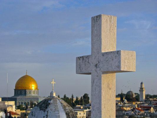 Ausblick vom Österreichisches Hospiz zur Heiligen Familie