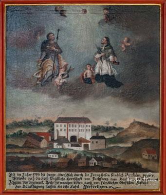 Als sich deren Bitte erfüllt, ihr Sohn möge unbeschadet aus den Türkenkriegen zurückkehren, lassen die Eheleute 1766 die Jakobskirche errichten.