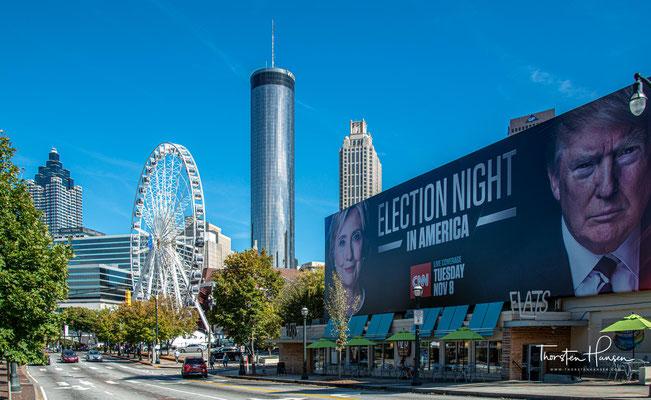 Die US-Wahl Trump gegen in Clinton im Jahre 2016