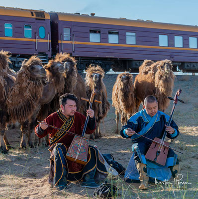 Traditionell bestehen die Saiten sowie die Bespannung des Bogens aus Schweifhaaren von mongolischen Pferden, die auch im ursprünglich mongolischen Rossschweif als Würdezeichen verwendet werden.