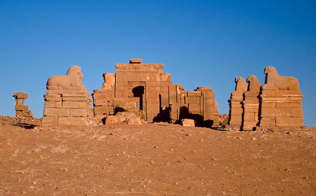 Widdersphinxreihe vor dem Amun-Tempel von Naqa