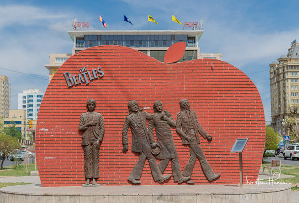Beatles Monument in Ulan Bator