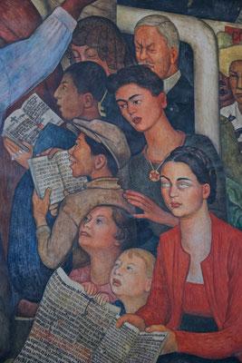 Murales von Diego Rivera im Nationalpalast