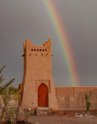 Regen über der Wüste in Erfoud