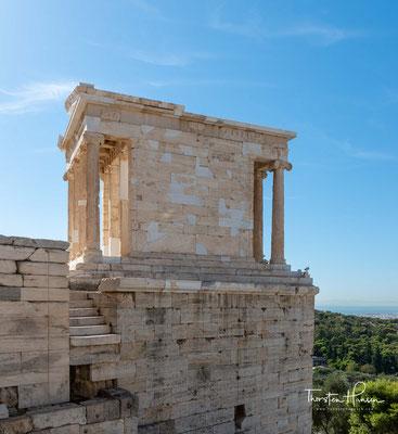 448 v. Chr. erging der Auftrag zum Neubau des Tempels an Kallikrates, einen der Architekten des Parthenon.