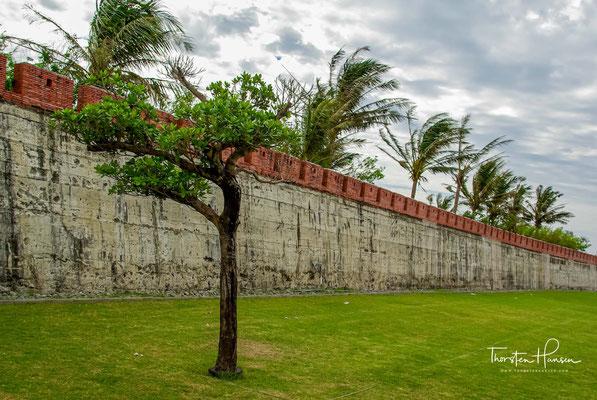 Die Mauer besteht aus Klebreispaste, Rohrzuckersirup und Austernschalenasche.