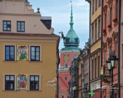 Warschauer Altstadt mit Turm des Königlichen Schlosses