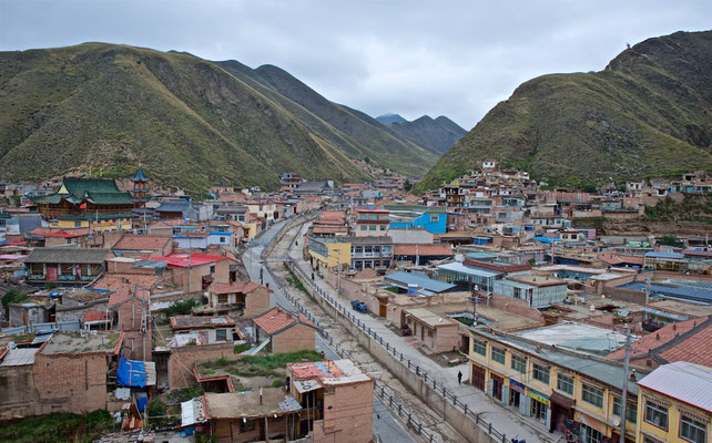 Blick über Xiahe