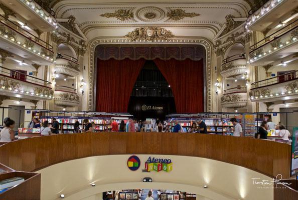 El Ateneo Grand Splendid, das ehemaliges Theater ist eine der bekanntesten Buchhandlungen in Buenos Aires