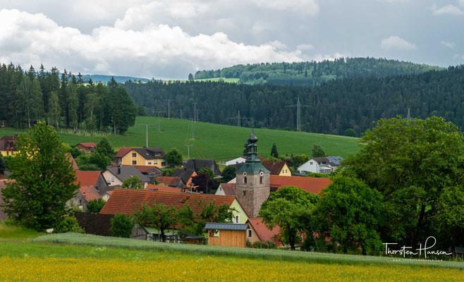 Blick auf den Ort Döllnitz