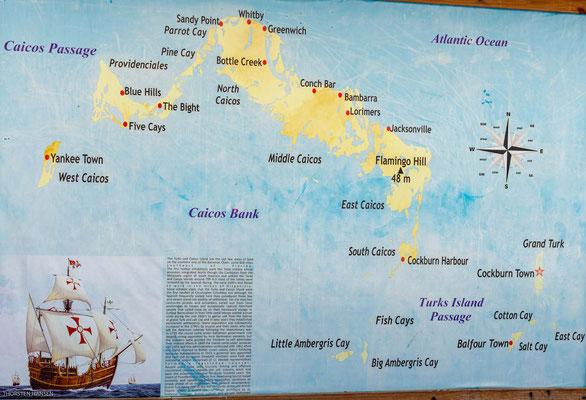 Grand Turk Island ist die größte und nördlichste Insel der Turks-Inseln, welche gemeinsam mit den rund 35 Kilometer nordwestlich gelegenen Caicos-Inseln das britische Überseegebiet der Turks- und Caicosinseln bilden.