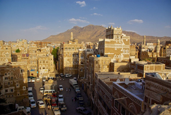Abendstimmung über Sanaa