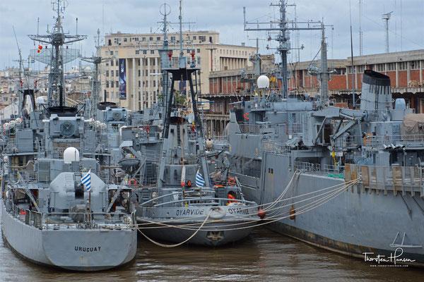 Die Marine im Hafen von Montevideo