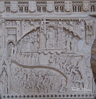 Grabmal, Darstellung des Jüngsten Gerichts