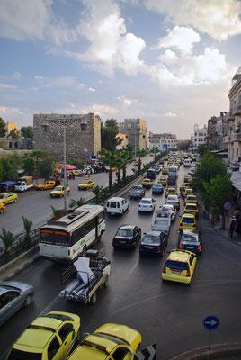 Verkehrschaos Damaskus