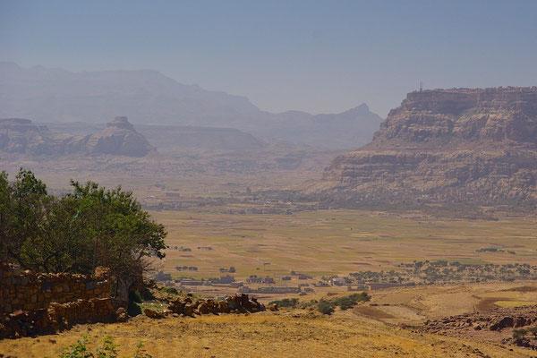 Landschaft im zentralen Westen des Jemen