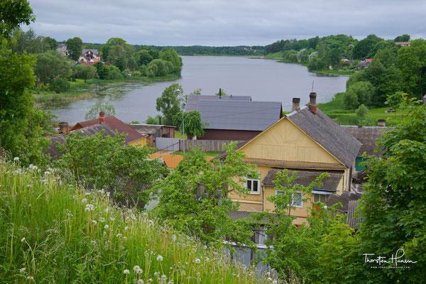 Blick über die Seen von Ludza