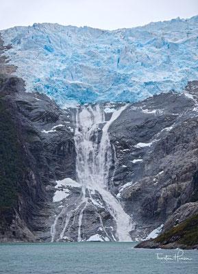 Wasserfall des rumänischen Gletschers