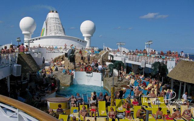 Mit der Aida in der Karibik - Auf See