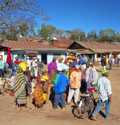 Dorf in den Usambara Bergen