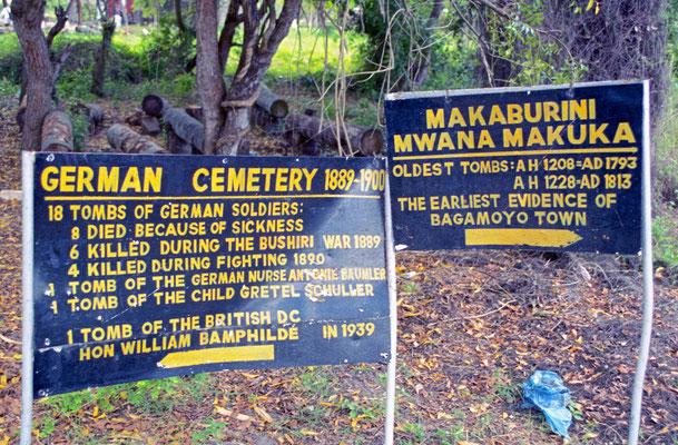 Deutscher Kolonialfriedhof in Bagamoyo