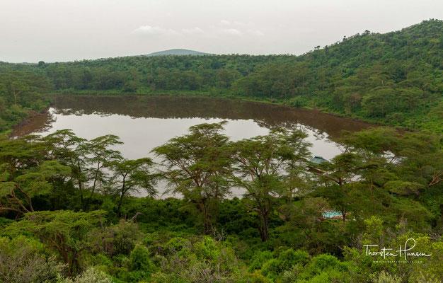 Green Crater Lake am Lake Naivasha