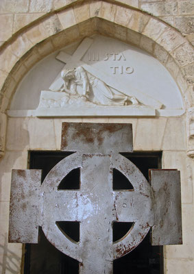 Die Via Dolorosa Station III. - Jesus fällt zum ersten Mal