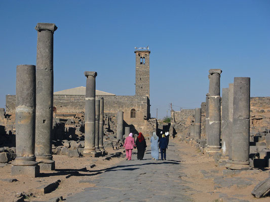 Ruinen einer Kalybe in Bosra