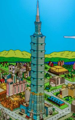 Größter anzunehmender Notfall ist ein schweres Erdbeben, das in Taipeh etwa alle fünf Jahre eintreten kann. Hier gilt es, den Wolkenkratzer mit rund 10.000 Menschen geordnet zu evakuieren.
