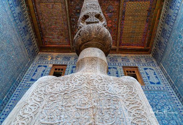 Dort entstanden die Medrese Alla Kuli Khan, eine Karawanserei, und die Händlerpassage Tim neu. Ebenfalls ließ Khan Alla Kuli dort einen neuen Palast, den Tasch Hauli errichten.