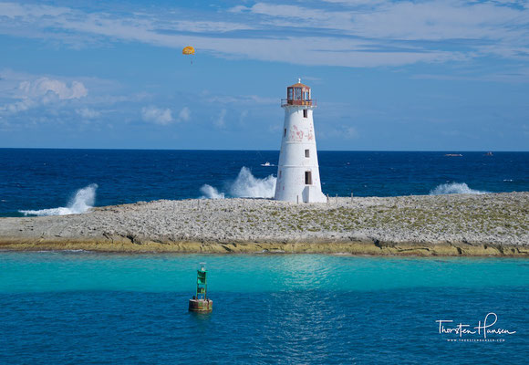 Leuchtturm in der Einfahrt nach Nassau