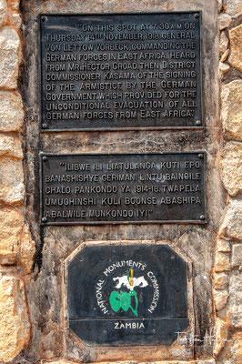 An dieser Stelle wurde am 14. November 1918 der Waffenstillstand vereinbart und markiert daher, dass Ende des Ersten Weltkriegs
