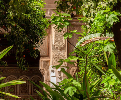 Der Bahia-Palast gilt als einer der großartigsten Paläste der marokkanischen Stadt Marrakesch oder der sogenannten Roten Stadt.