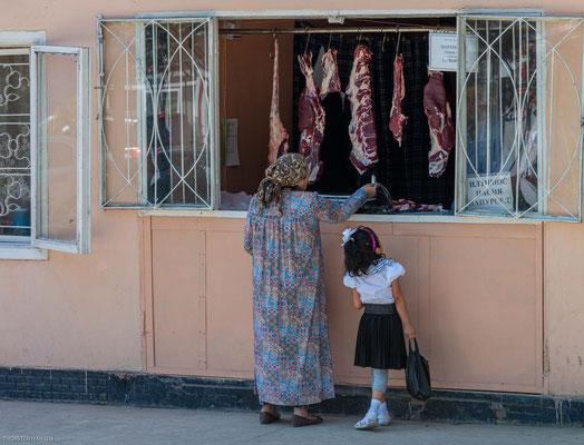 Fleischverkauf in Tajikistan