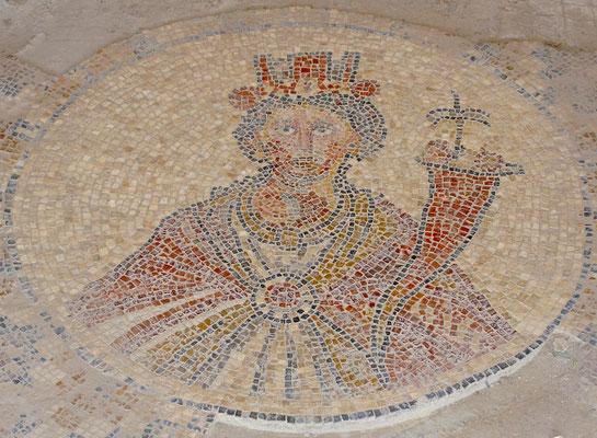 Römisches Mosaik von Ticha, einer lokalen Göttin von Bet She'an