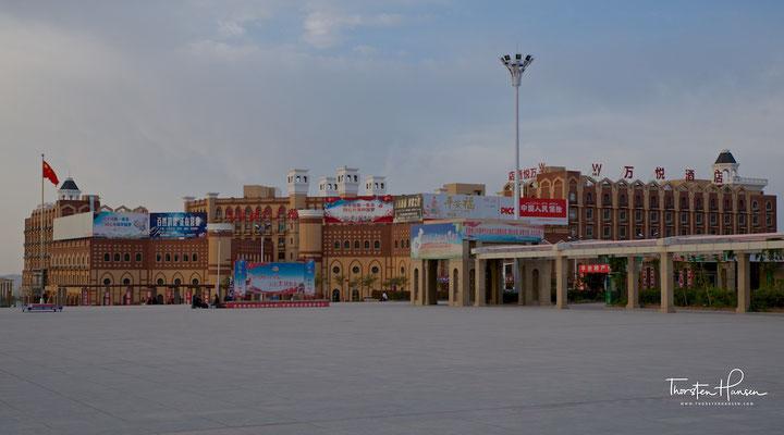 Bahnhofsgelände in Urumqi